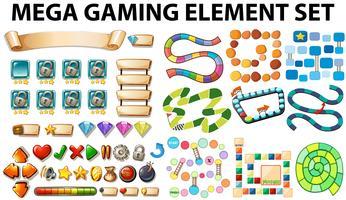 Elementos do jogo e modelo vetor