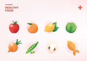 Pacote de alimentos saudáveis vetor