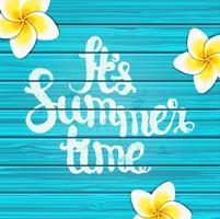 Fundo de horário de verão. vetor