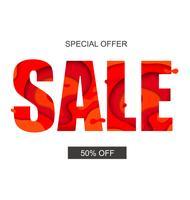 Banner de venda com oferta especial vetor