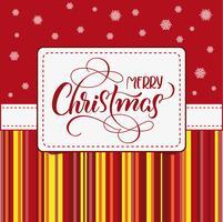 quadro do feriado com Feliz Natal no fundo branco. caligrafia e letras. Ilustração vetorial EPS10 vetor
