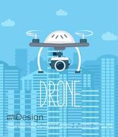 Drone com câmera. vetor