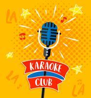 Símbolo de filhote de karaoke. vetor