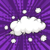 Bolha de nuvem vetor