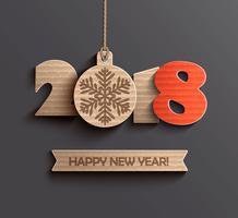 Projeto moderno do ano novo feliz 2018.