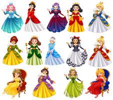 Personagens diferentes de rainhas vetor