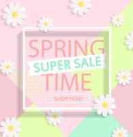 Super venda de primavera. vetor