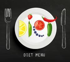 O conceito de dieta. vetor