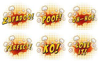 Design de palavras na explosão da nuvem vetor