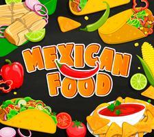 Conceito de comida mexicana. vetor
