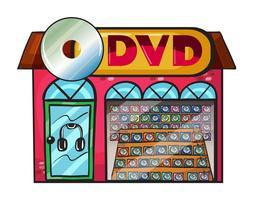 Uma loja de dvd vetor