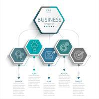 Infográfico para os negócios. vetor