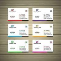 Cartões simples vetor
