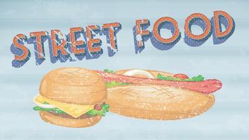comida de rua vetor