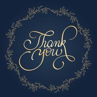 Obrigado texto com moldura redonda no fundo. Caligrafia, lettering, vetorial, ilustração, EPS10