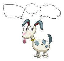Um, filhote cachorro, com, vazio, callouts vetor