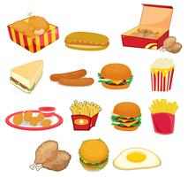 Junk food em branco