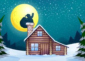 Cabana de inverno vetor