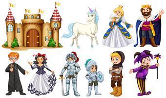 Personagens diferentes em contos de fadas vetor