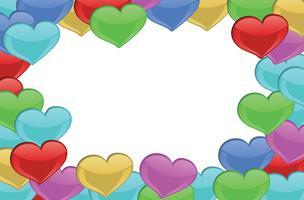 Fronteira desenhada pelo coração vetor