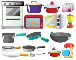 conjunto de cozinha vetor