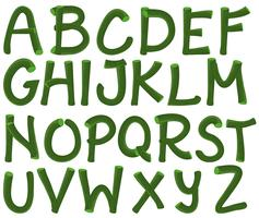 Alfabeto verde vetor