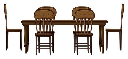Uma mesa de jantar vetor