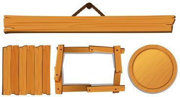 Modelos diferentes para placa de madeira vetor
