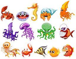 Criaturas marinhas vetor