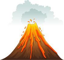 Entrar em erupção vetor