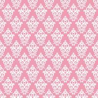 Padrão sem emenda do damasco. Textura rosa em estilo real rico vintage vetor