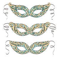 Máscara de carnaval veneziano vetor