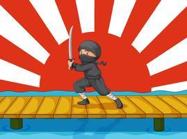 Desenho de ninja vetor