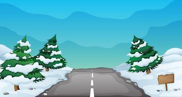 paisagem de neve vetor
