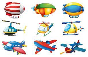 Aviões e Balões vetor
