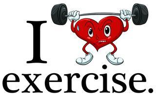Adoro exercitar vetor