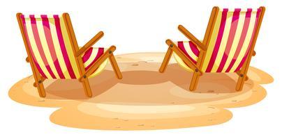 Duas cadeiras de praia vetor