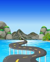 Estrada para a montanha vetor
