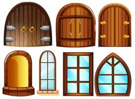Portas e janelas vetor