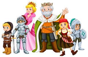 Rei e outros personagens de contos de fada vetor