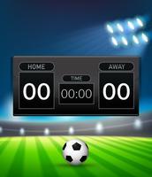 Um modelo de placar de futebol