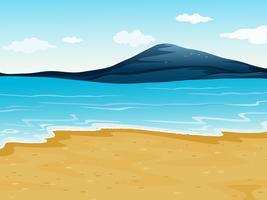 Uma costa do mar vetor