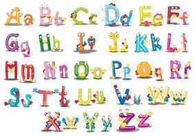 Caracteres do alfabeto vetor