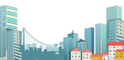 Cidade urbana vetor