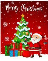 Papai Noel feliz Natal modelo vetor