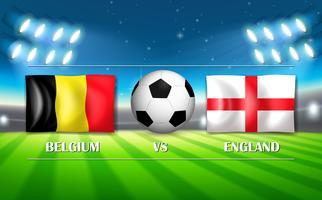 Modelo da Bélgica VS Inglaterra vetor