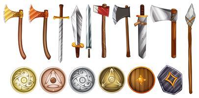 Armas e Escudos vetor