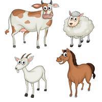 Animais de fazenda vetor