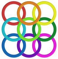 Padrão de anel colorido vetor