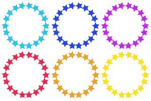 Círculos de estrelas vetor